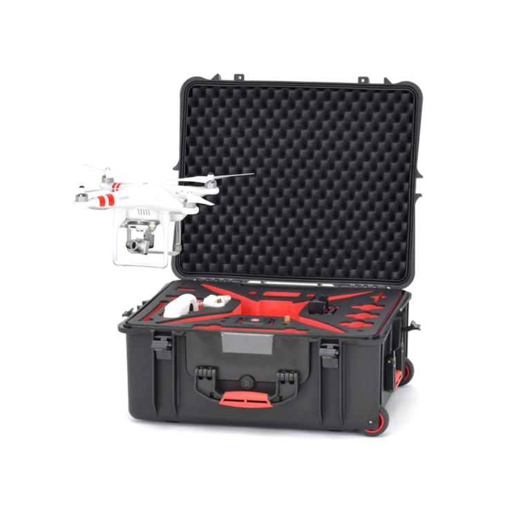 HPRC2700W FOR DJI PHANTOM 2/2 VISION/2 VISION+ - BLACK/RED FOAM