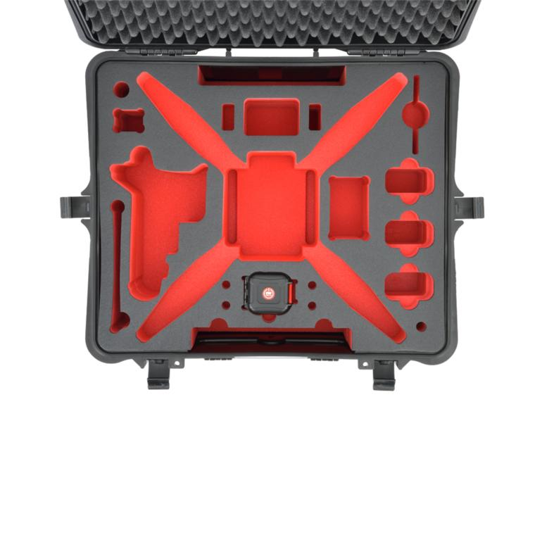 HPRC2700W FOR DJI PHANTOM 2/2 VISION/2 VISION+ - BLACK/RED FOAM