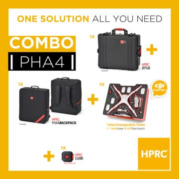 COMBO - HPRC2710 + SOFT BAG FOR DJI Phantom4 /4Pro/4Pro+ (INTERCHANGEABLE FOAM)