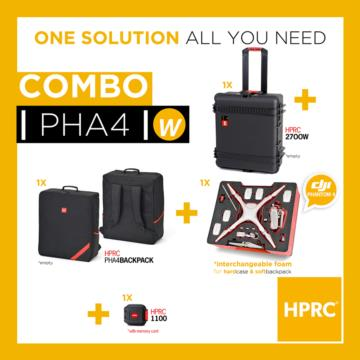 COMBO - HPRC2700W + SOFT BAG DJI 4 / 4 Pro / 4 Pro+ (INTERCHANGEABLE FOAM)